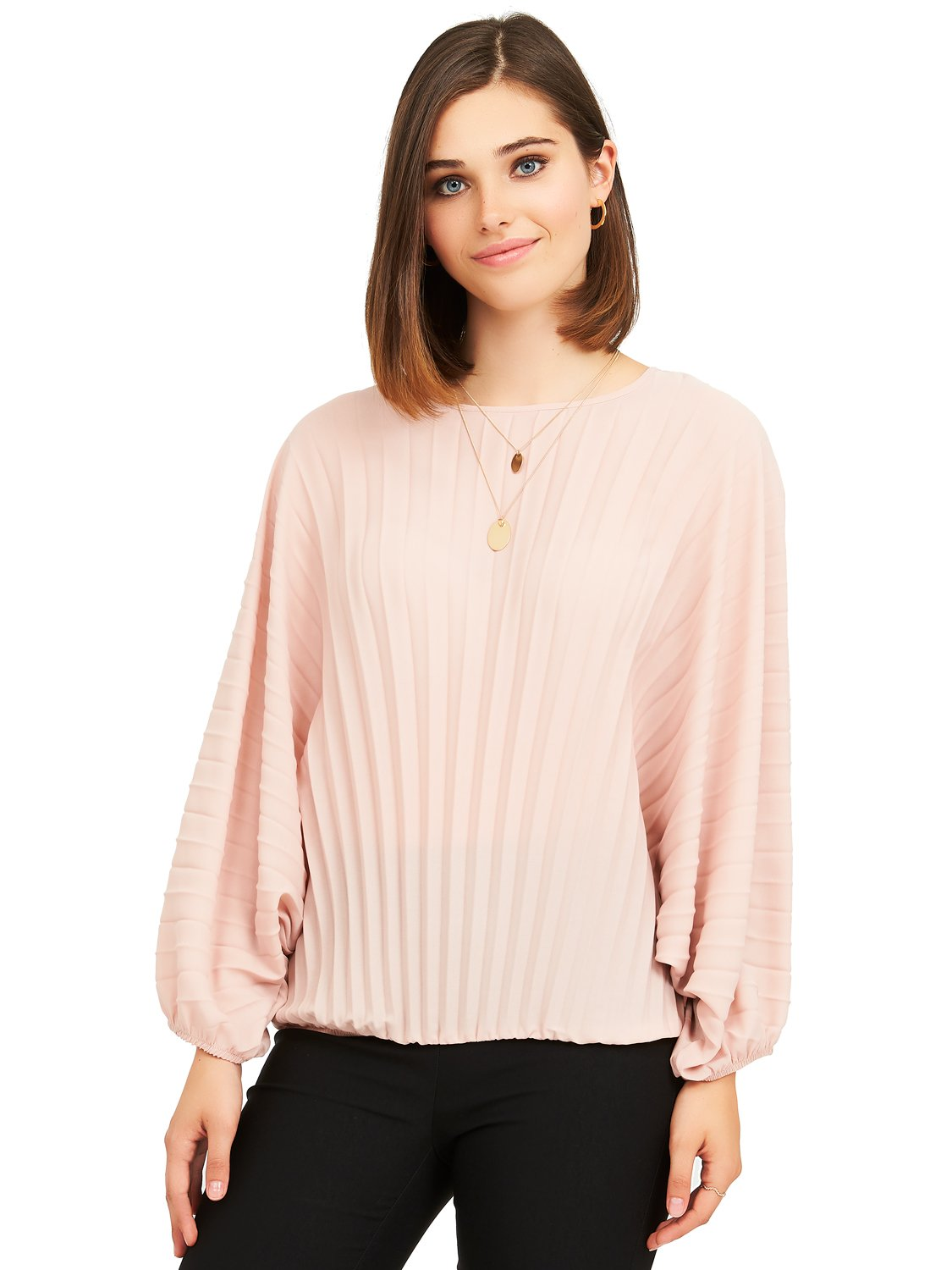 pleat chiffon blouse