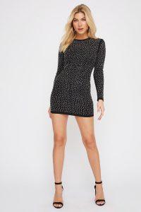 rhinestone mini dress