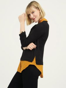 ruched sleeve print top