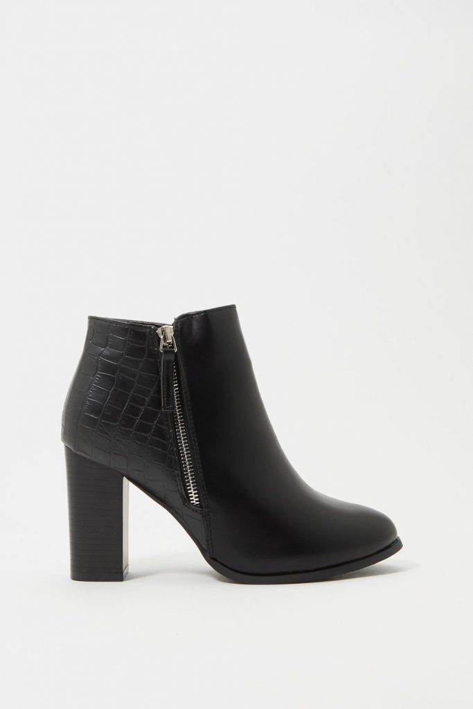 side zipper bootie