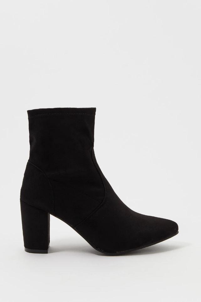 sock heel bootie