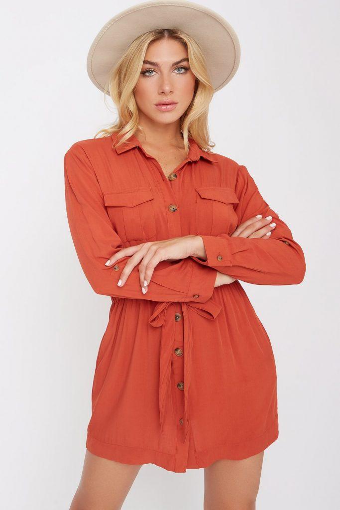 utility shirt dress