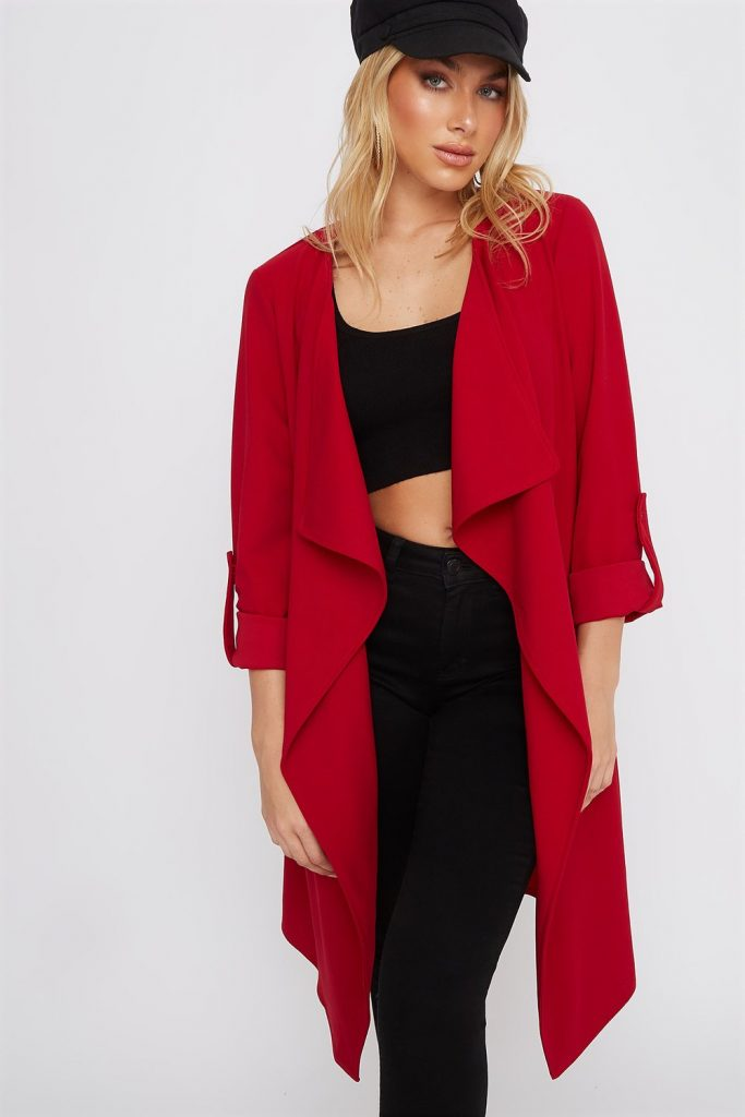 waterfall longline blazer