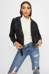 UP belted leather jacket $29.99