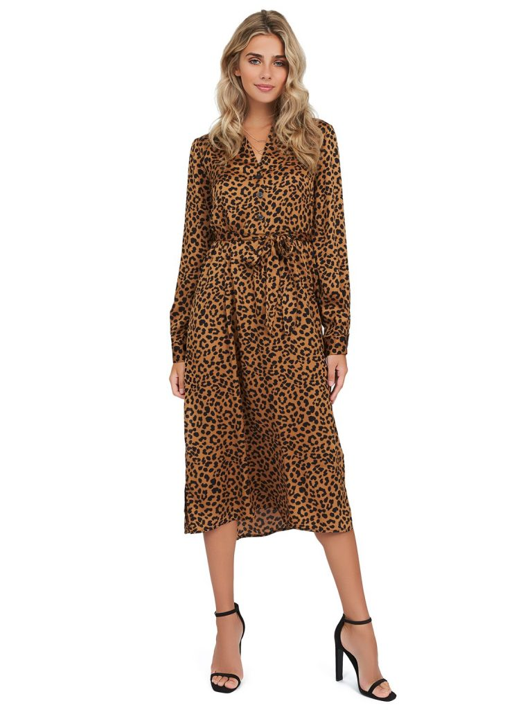 animal print shirtdress