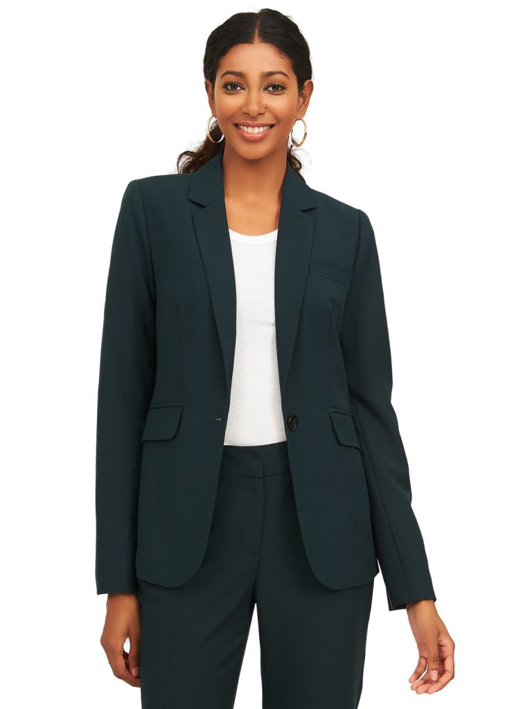 one button closure blazer