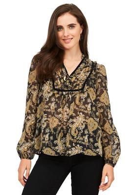 paisley chiffon blouse