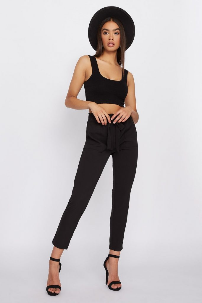 paperbag high rise pants
