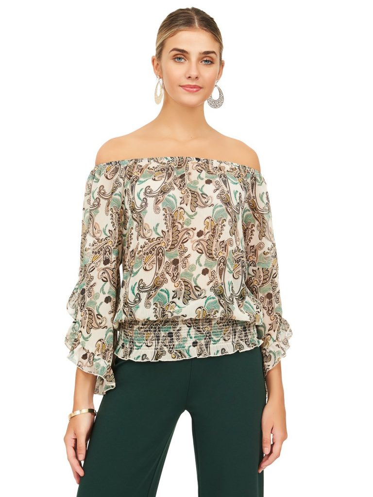 peasant top with ruffles