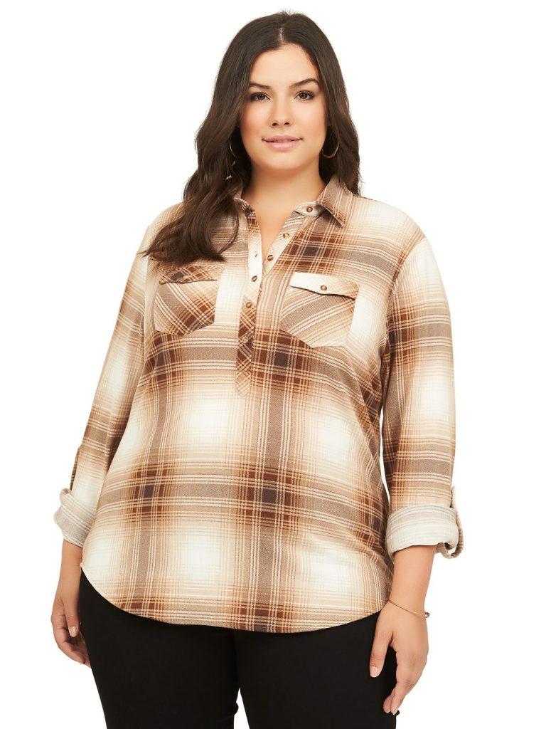 plus-size button down shirts