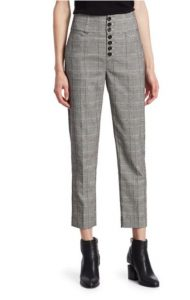 saks fifth avenue plaid pants $186.00