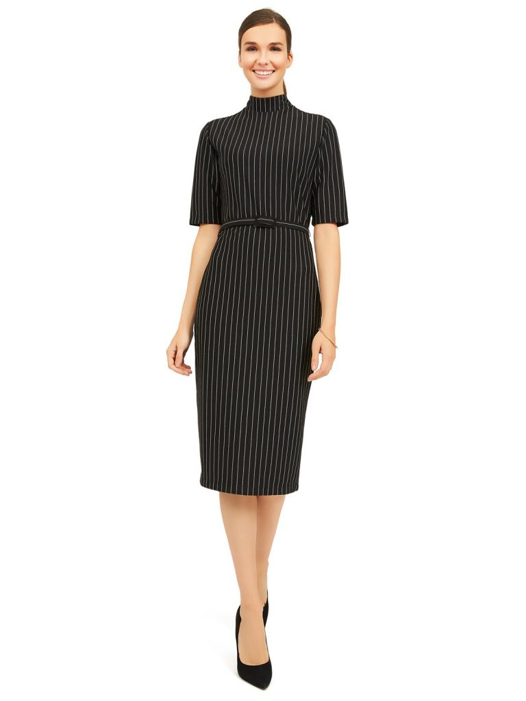 striped mock dress