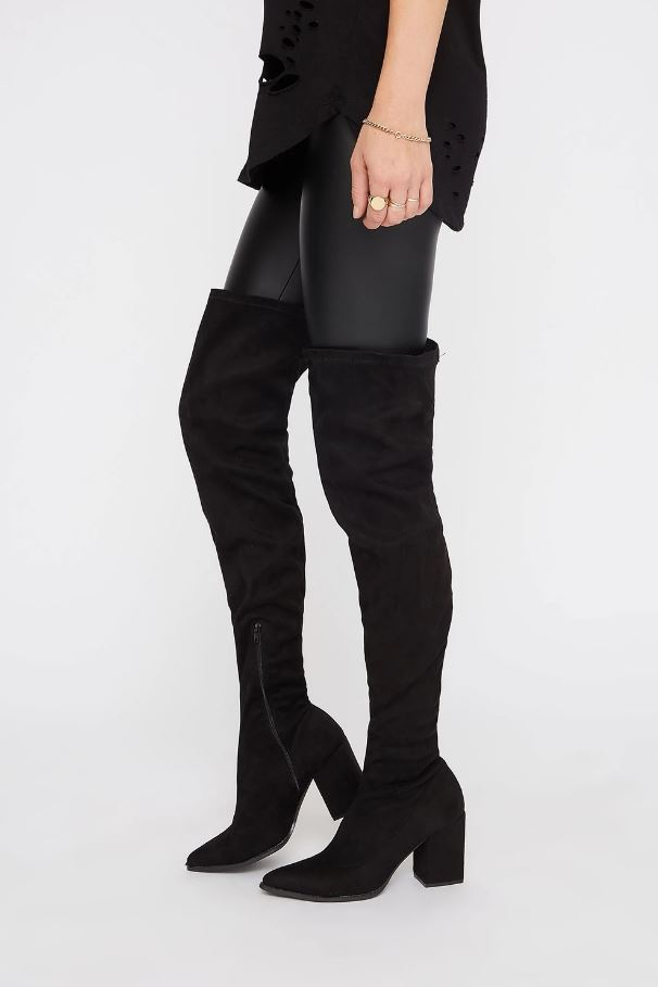 thigh high heel boot