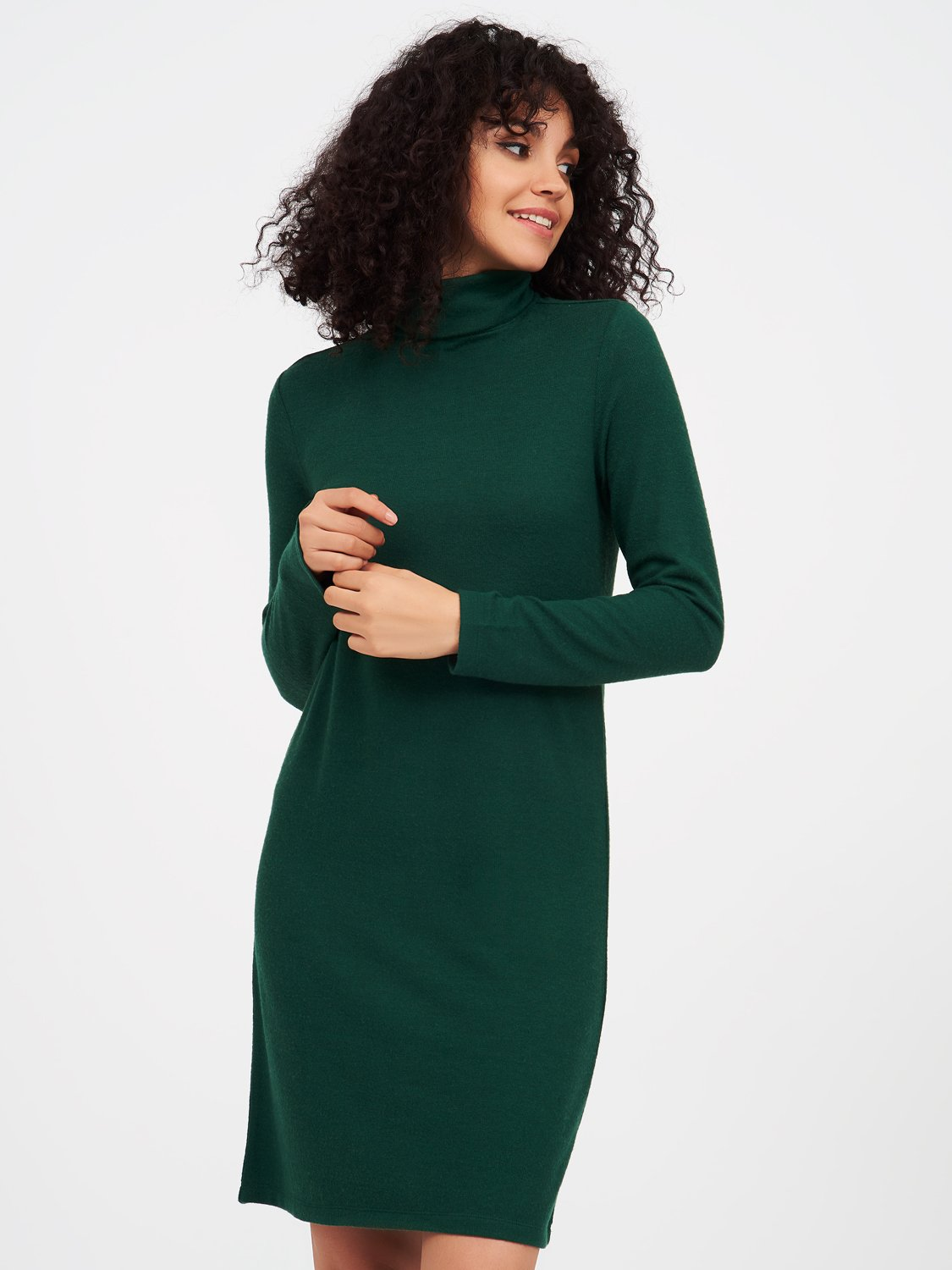 turtleneck a-line dress