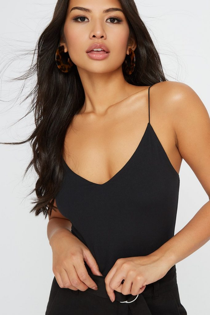 v-neck soft bodysuit