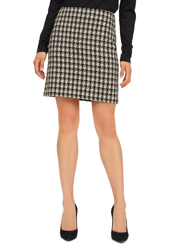 woven boucle skirt